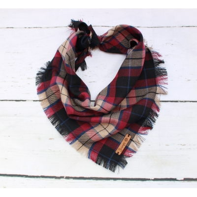 Frayed Spartan Plaid Bandana - Scamps