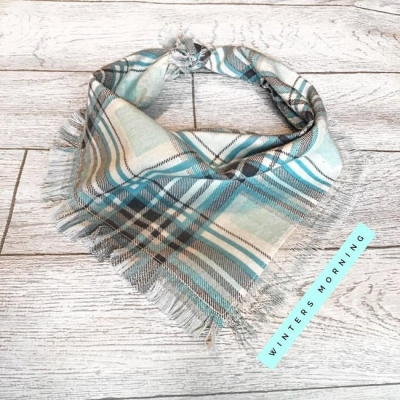 Frayed Winters Plaid Bandana