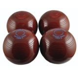 Biased Indoor Carpet Bowls - Black Red..