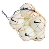 6 Nike Team Footballs and Net - White