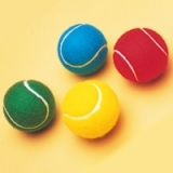 Coloured Tennis Ball 12 Pack 3 each co..