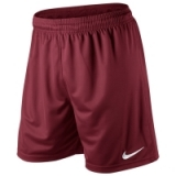 Nike PARK KNIT SHORTS in Team Red/White