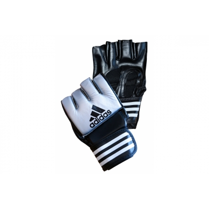 Adidas MMA Grappling Training Gloves - Silver / Black