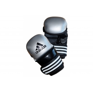 Adidas MMA Sparring Gloves - Silver/Bl..