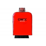 Cimac Straight Shield - Red/Black