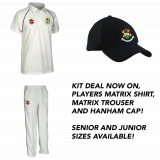 Hanham CC Shirt, Trouser & Cap Kit Pac..