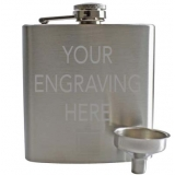 Engravable 6oz Hip Flask With Funnel