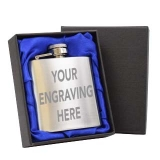 Engravable 3oz Hip Flask With Gift Box..