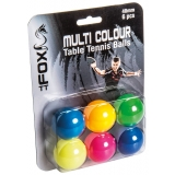 Fox Coloured Table Tennis Balls Pack o..