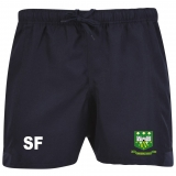 Adults Whitehall RFC Black Rugby Shorts
