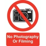 No Filming / Photography Sign