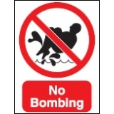 No Bombing Sign