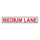 Directive Signs MEDIUM LANE