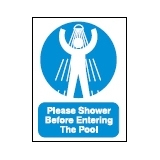 Shower Before Entering Pool Sign