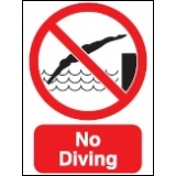 Large No Diving Sign