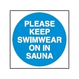 Wear Swimwear in Sauna Sign