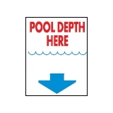 Informative Signs - POOL DEPTH Large