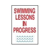 Directive Signs SWIMMING LESSONS IN PR..
