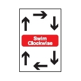 Directive Signs SWIM CLOCKWISE