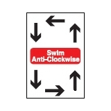 Directive Signs SWIM ANTI CLOCKWISE