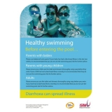 Healthy Swimming Posters - BLUE Poster
