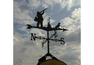 Man and Gun dog  Hunting Weathervane