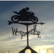 Sports bike Weathervane