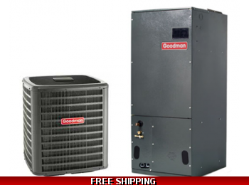 3 Ton 16 SEER Central Air Conditioning System Goodman GSX16/ASPT