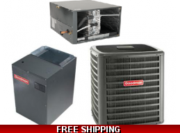 5 Ton 17 SEER Central Air Conditioner System Goodman DSXC/CHPF/MBVC