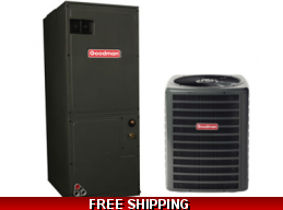 5 Ton 16 SEER Central Air Conditioner System Goodman GSX16/AVPTC