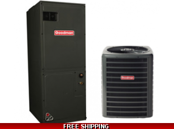 3.5 Ton 16 SEER Central Air Conditioner System Goodman GSX16/AVPTC
