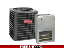 1.5 Ton 14 SEER Central Air Conditioner System Goodman GSX14/AWUF