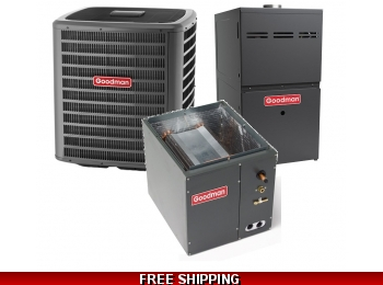 1.5 Ton 14.50 SEER Goodman GSX14 Central Air System with GMS80 Furnace
