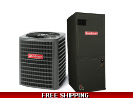 2 Ton 14.5 SEER Central Air Conditioner System Goodman GSX14/ASPT