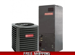 3 Ton 16 SEER Central Air Conditioner System Goodman DSXC16/AVPTC