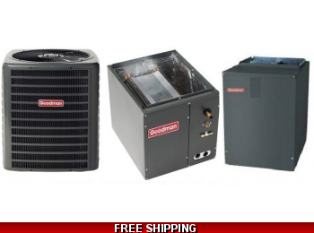 5 Ton 17 SEER Heat Pump and Air Conditioning System DSZC18/CAPF/MBVC