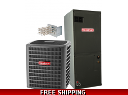 5 Ton 16 SEER Central Air Conditioner System Goodman DSXC18/AVPTC