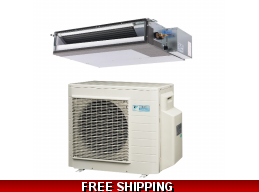 Daikin 2 Ton 16.5 Seer Ducted RZR and FBQ Series Cooling Only System