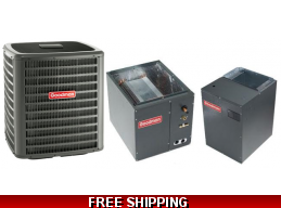 5 Ton 16 SEER Central Air Conditioner System Goodman DSXC16/CAPF/MBVC