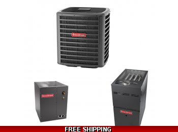 3 Ton 18 SEER Goodman DSXC18 Central Air System with GMVC80 Furnace
