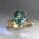 3ct Natural Paraiba blue Zircon ring 9ct .375 yellow gold
