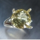 5.10cts Natural Heliodor Beryl Golden &aquamarines 925 Silver ring