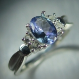 0.80ct Natural Blue Tanzanite & white ..