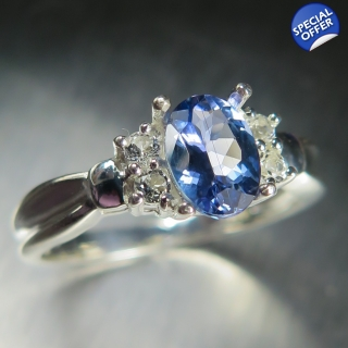 0.8ct Natural Blue Tanz..