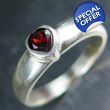 Natural Burgundy red Garnet heart cut ..