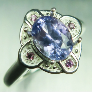 1.40ct Natural Purple Tanzanite &ameth..