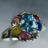 1.25ct Natural blue Zircon &sapphires ..