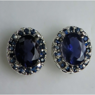 Natural Blue Iolite & s..