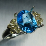 3.35cts Natural Swiss blue Topaz Sterl..