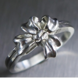 Engagement wedding ribbon ring 925 sil..